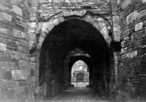 Beaumaris Castle Entrance to Inner Courtyars in 1935