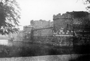 Beaumaris Castle and Moat in 1935