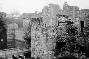 Beaumaris Castle from the Battlements in 1935