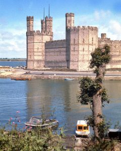 Caernarfon Castle in the 1960s