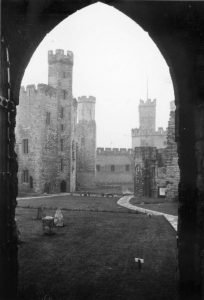 Caernarfon Castle Courtyard in 1935