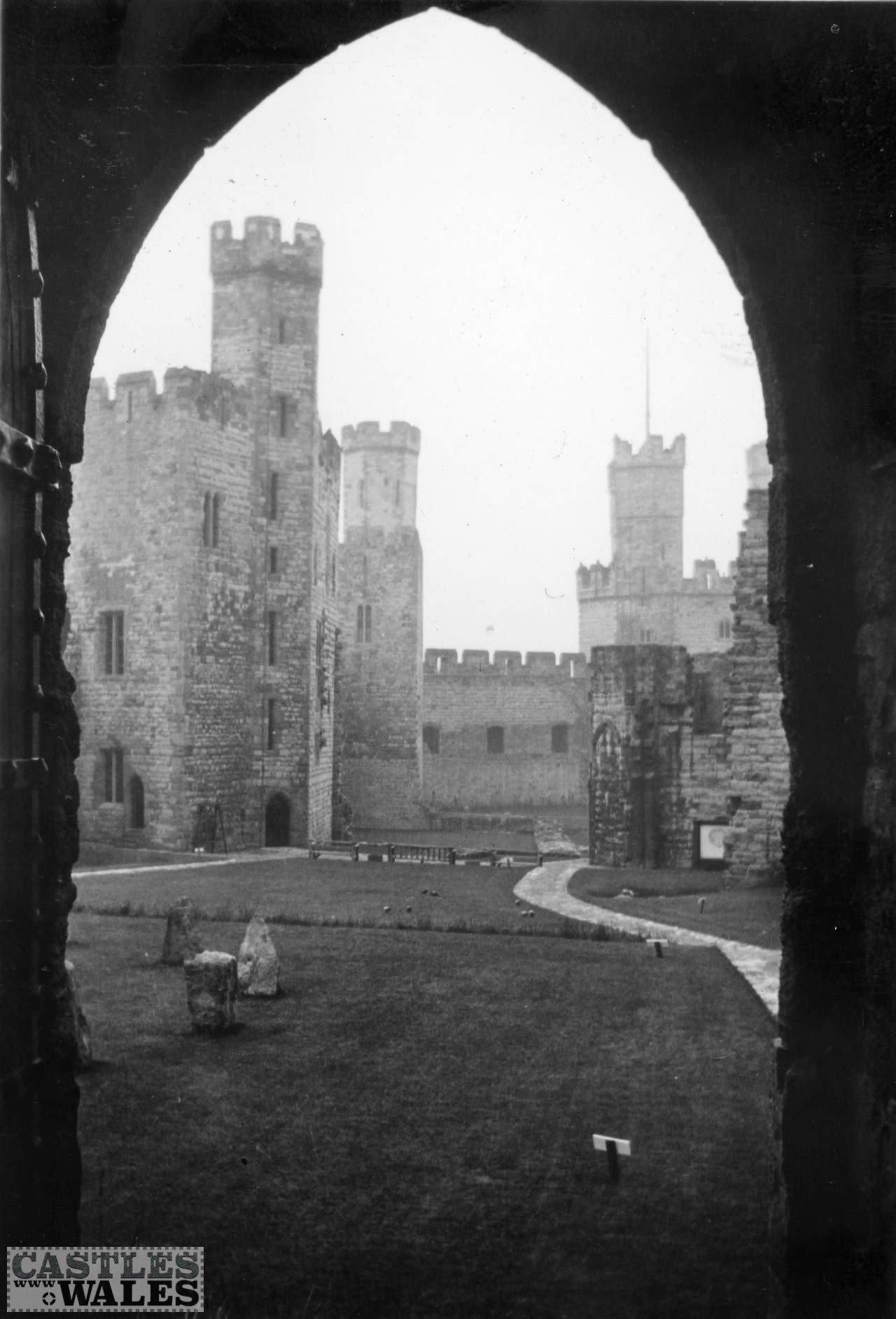 Caernarfon Castle Courtyard in 1935