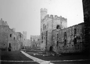 Caernarfon Castle Interior in 1935