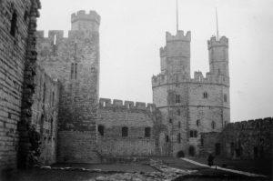 Caernarfon Castle Interior in 1935