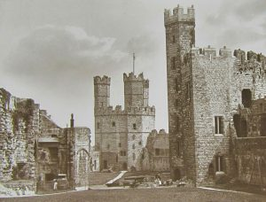 Caernarfon Castle Magic Lantern Slide c.1890