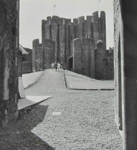 Caerphilly Castle Magic Lantern Slide 1963