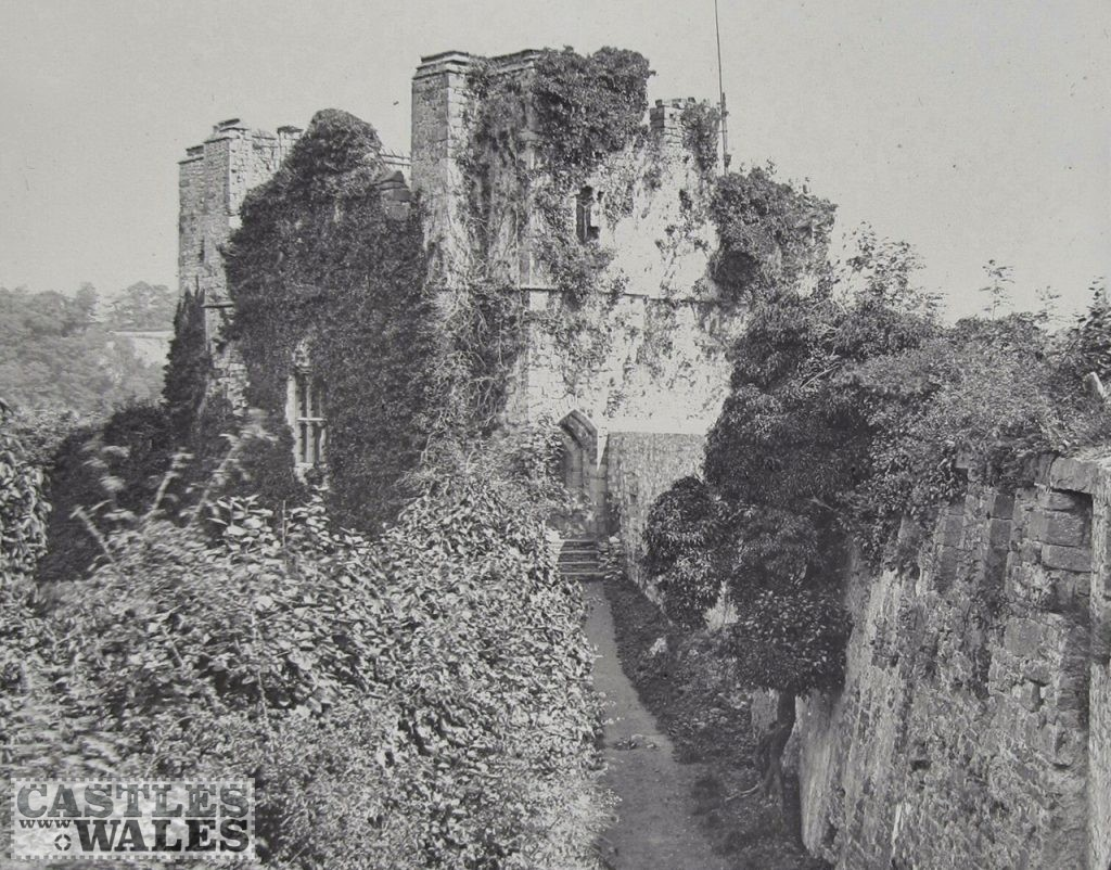Chepstow Castle (Martins Tower) - Magic Lantern Slide c.1890