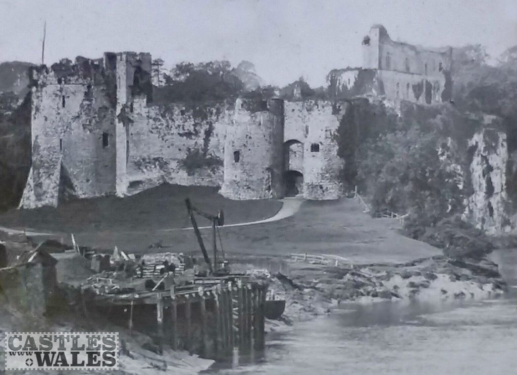 Chepstow Castle Magic Lantern Slide