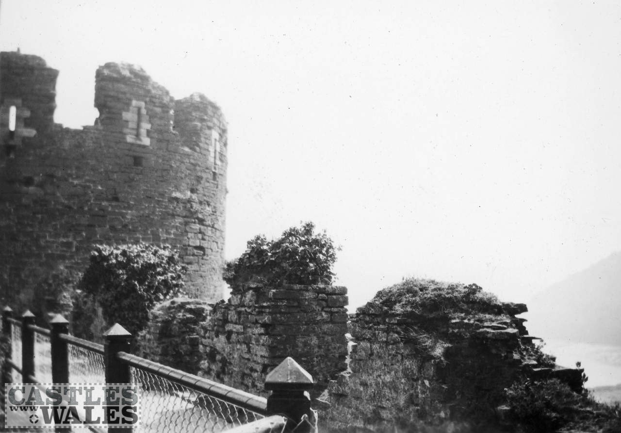 Along the Battlements of Conwy Castle in 1935