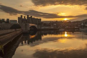 Conwy Castle At Sunset