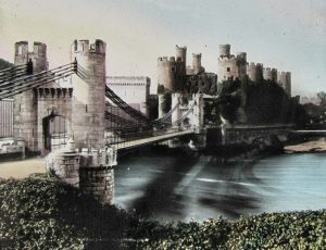 Conwy Castle Colour Magic Lantern Slide c.1890
