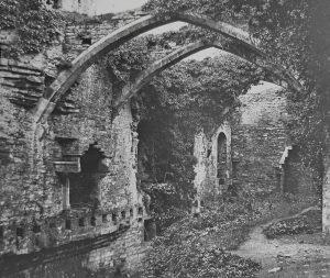 Conwy Castle Hall Magic Lantern Slide c.1890