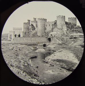 Conwy Castle Round Magic Lantern Slide c.1890