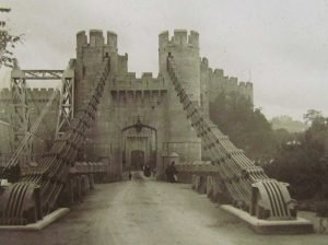 A Magic Lantern Slide of Conwy Castle Suspension Bridge c.1890