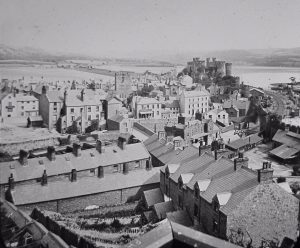 Conwy Castle View Magic Lantern Slide 1 c.1890