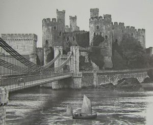 Conwy Castle and Boat Magic Lantern Slide c.1890