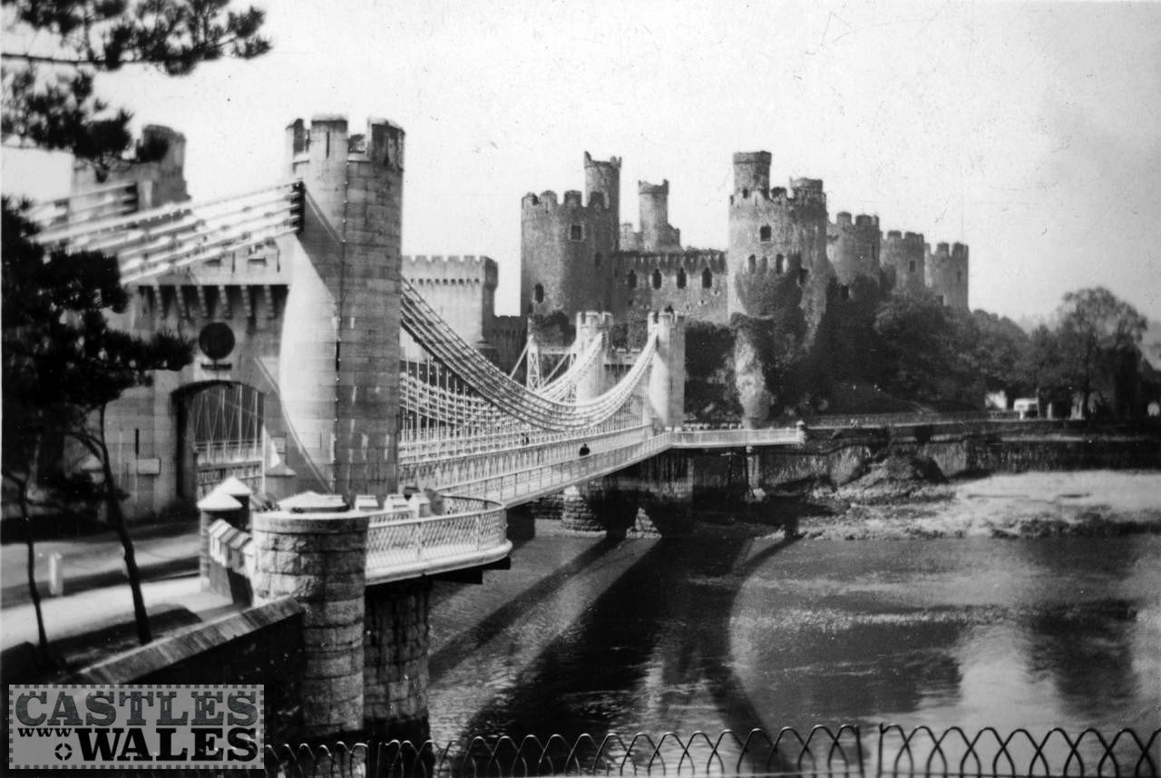 Conwy Castle and Bridge in 1935