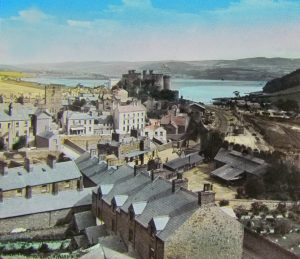 Conwy Castle and Town Magic Lantern Slide c.1890