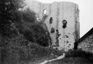 Denbigh Castle - Town Wall Tower in 1935