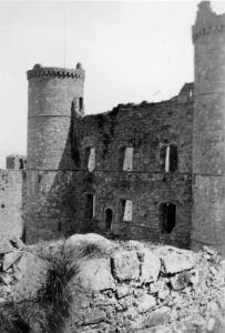 Harlech Castle Courtyard in 1935