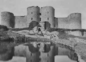 Harlech Castle Exterior Magic Lantern Slide c.1890