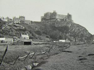 Harlech Castle from the Meadows Magic Lantern Slide c.1890