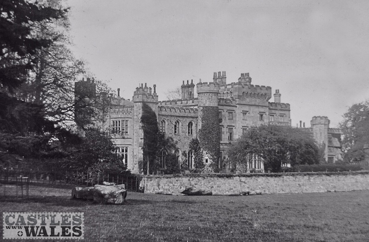 Hawarden Castle Magic Lantern Slide c.1890