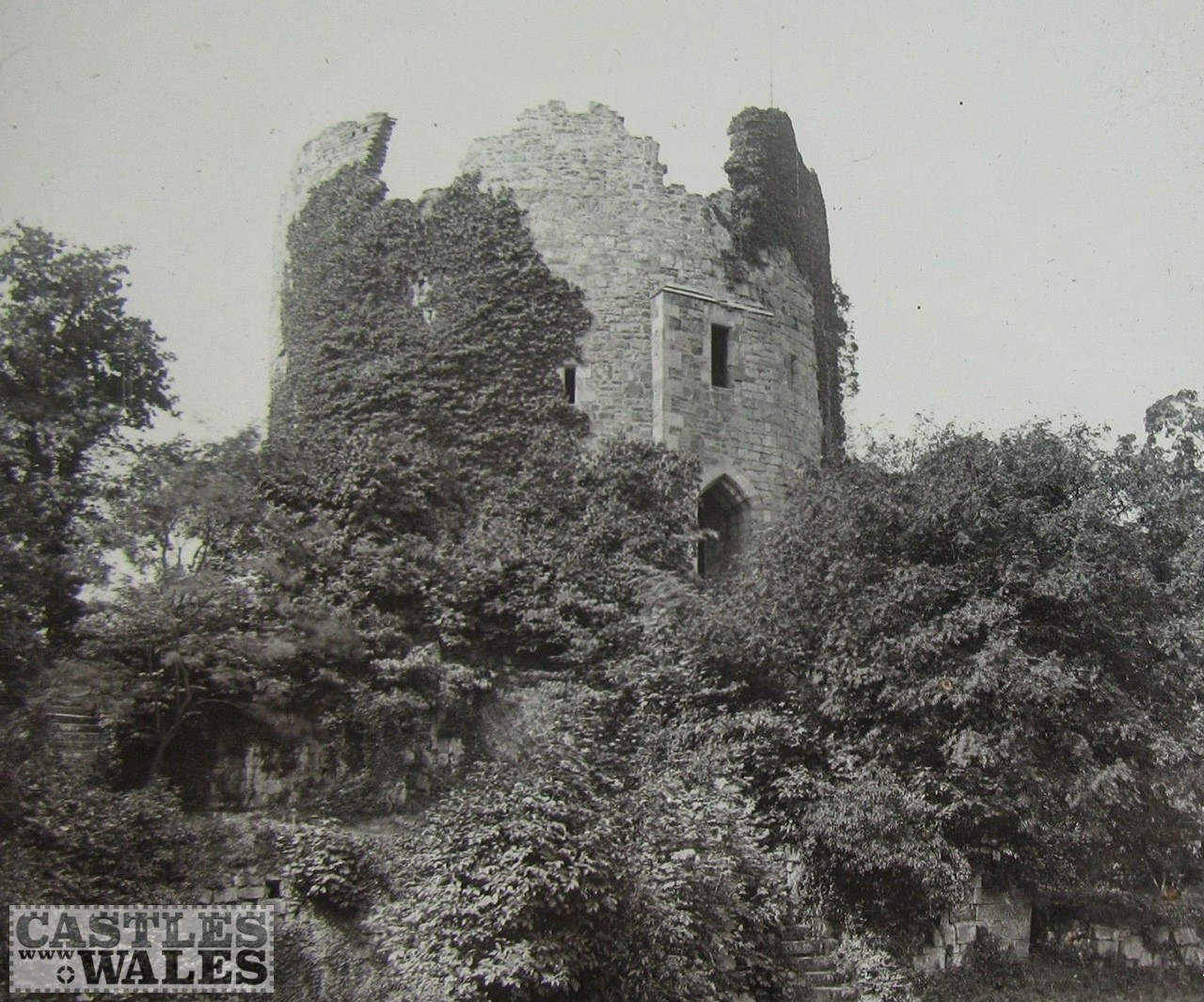 Hawarden Old Castle Magic Lantern Slide c.1890