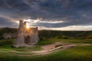 Pennard Castle and Three Cliffs Bay, Swansea
