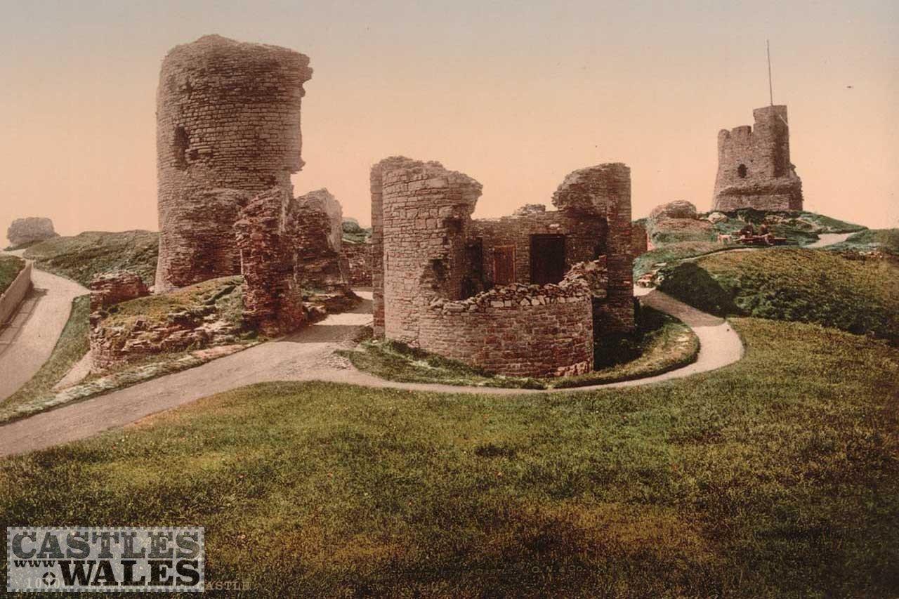 A Victorian Photochrom of Aberystwyth Castle