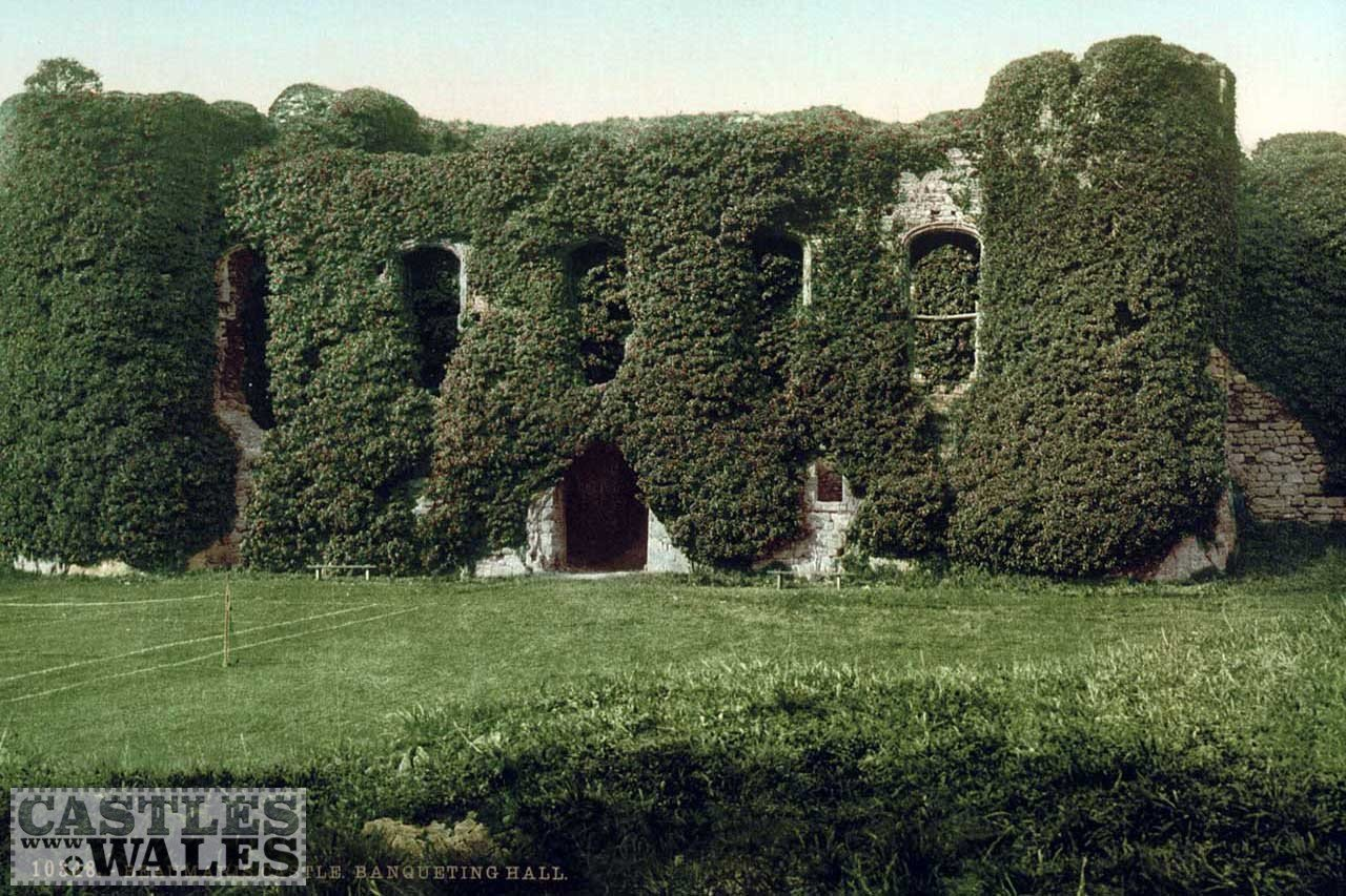 A Victorian Photochrom of Beaumaris Castle (Banqueting Hall)