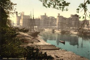 A Victorian Photochrom of Caernarfon Castle