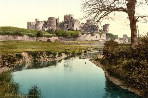 A Victorian Photochrom of Caerphilly Castle
