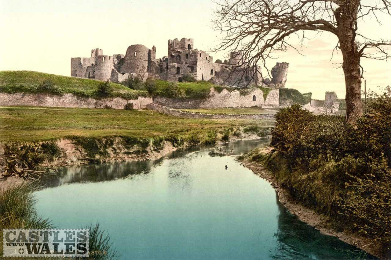 Photochrom of Caerphilly Castle