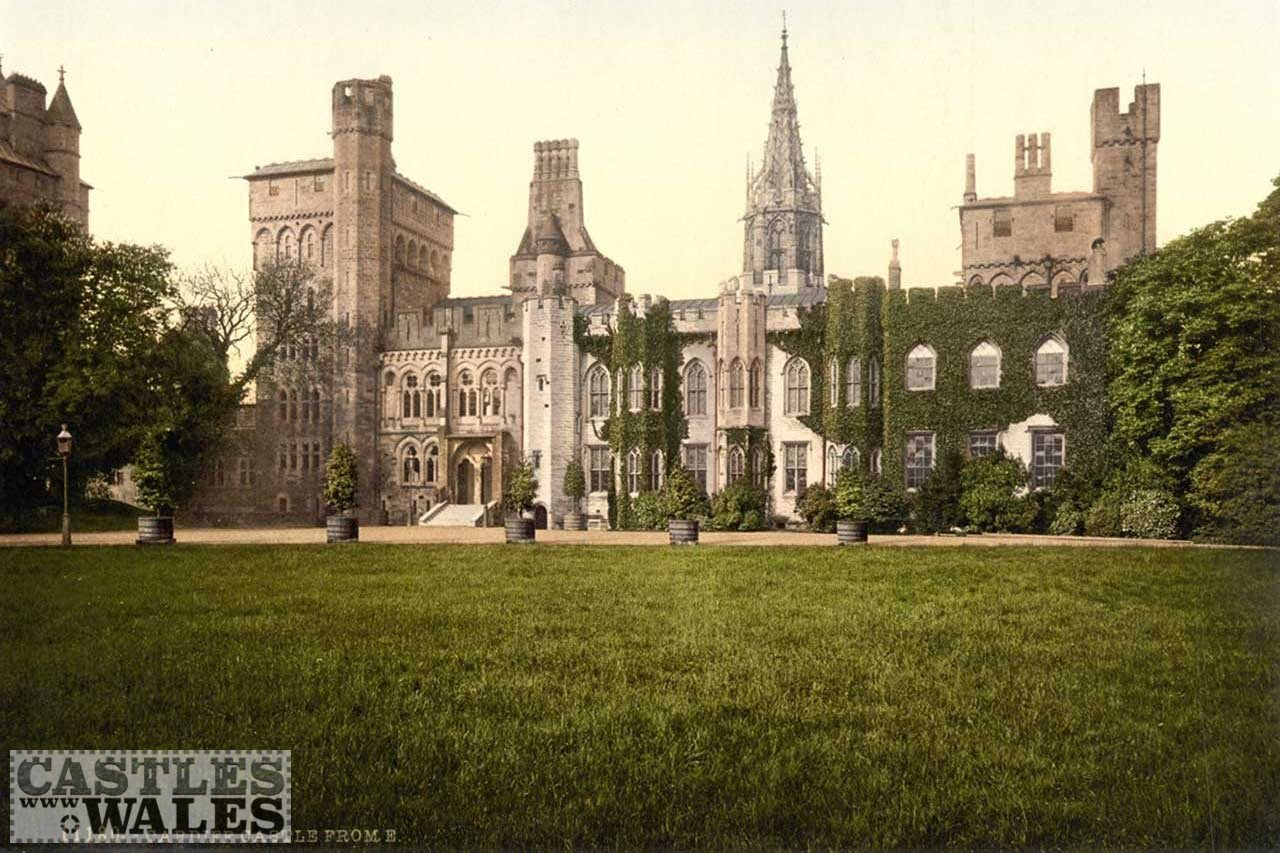 A Victorian Photochrom of Cardiff Castle