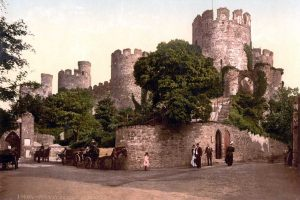 A Victorian Photochrom of Conwy Castle