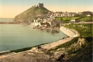 A Victorian Photochrom of Criccieth Castle