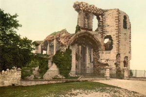 A Victorian Photochrom of Denbigh Castle