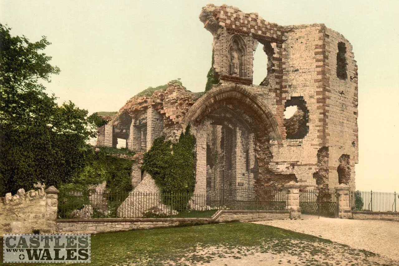 A Victorian Photochrom of Denbigh Castle