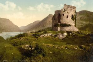 A Victorian Photochrom of Dolbadarn Castle