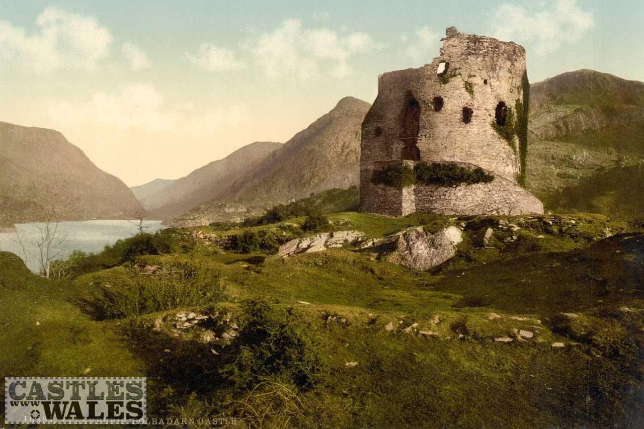 A Victorian Photochrom of Dolbadarn Castle