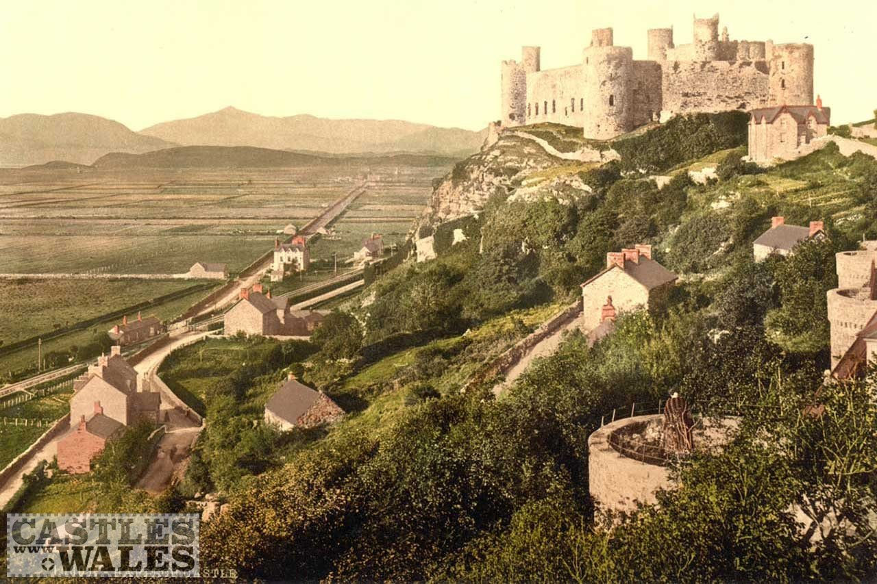 A Victorian Photochrom Harlech Castle