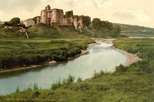 A Victorian Photochrom of Kidwelly Castle