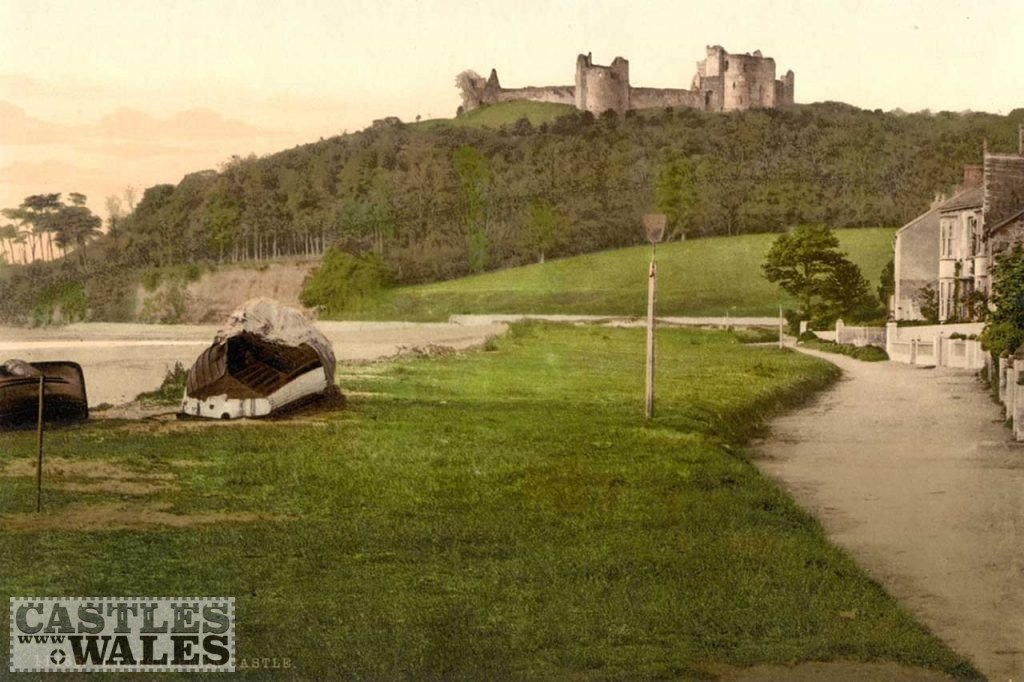 A Victorian Photochrom of Llansteffan Castle
