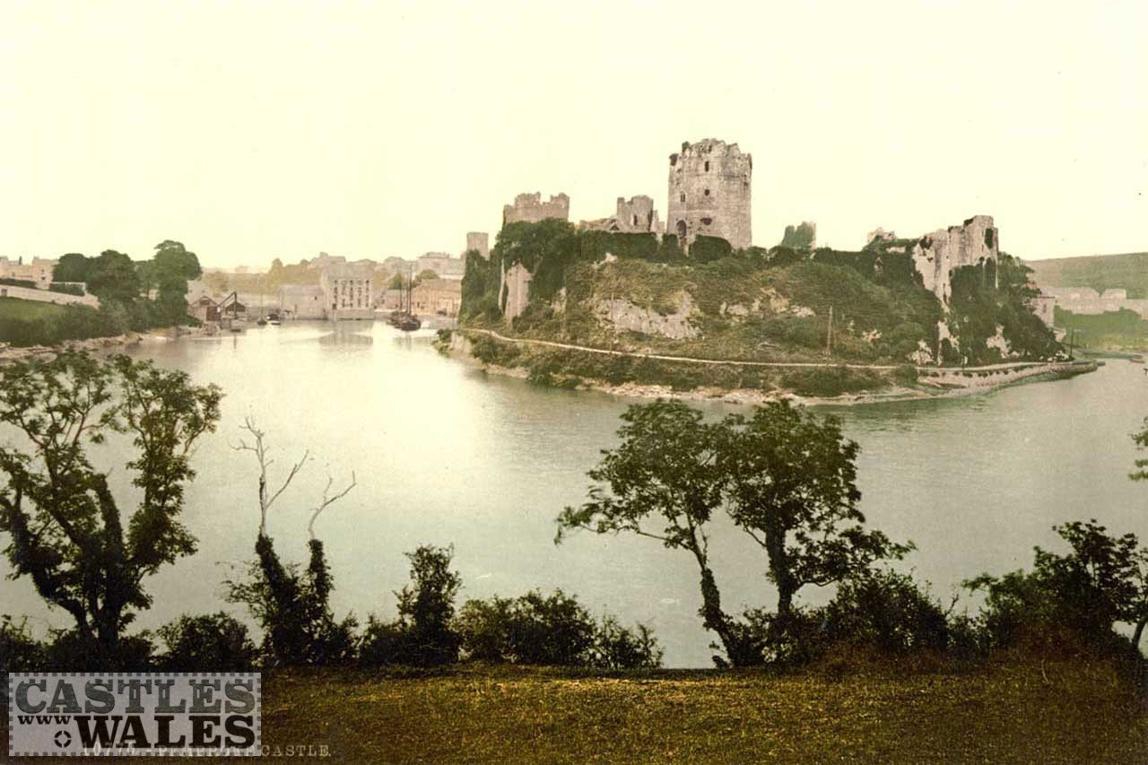 A Victorian Photochrom of Pembroke Castle