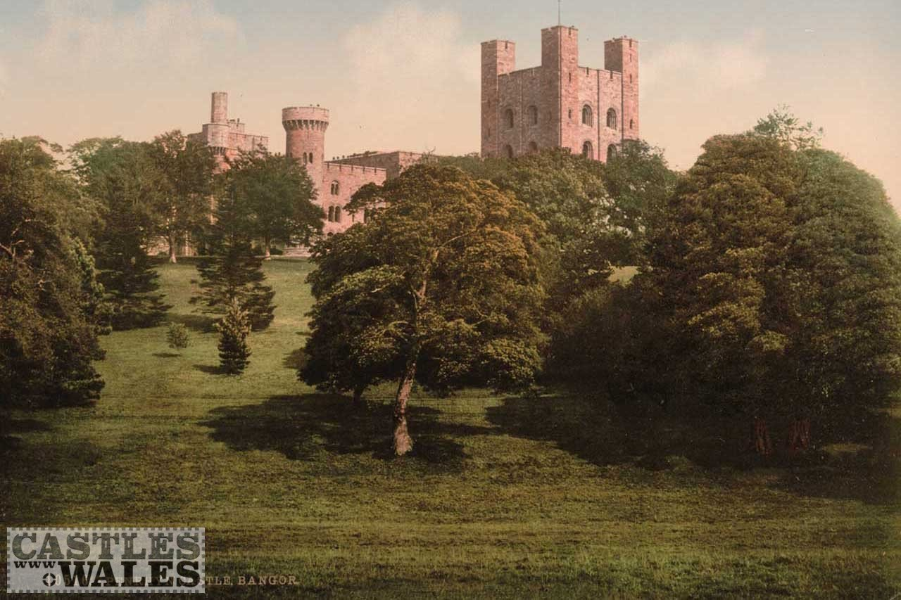 A Victorian Photochrom of Penrhyn Castle