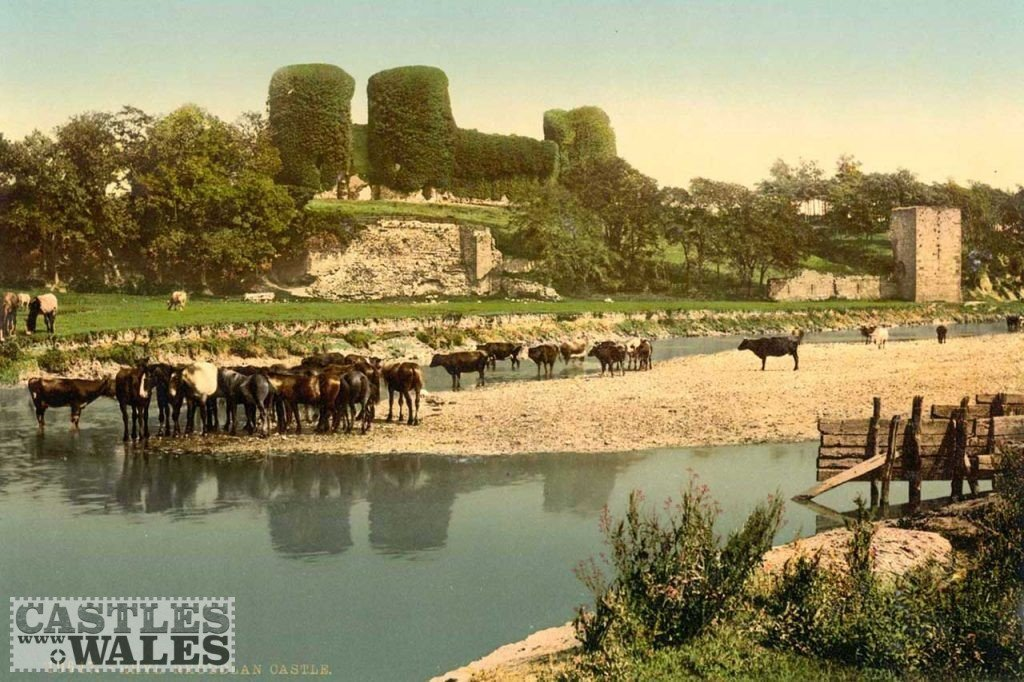 A Victorian Photochrom of Rhuddlan Castle