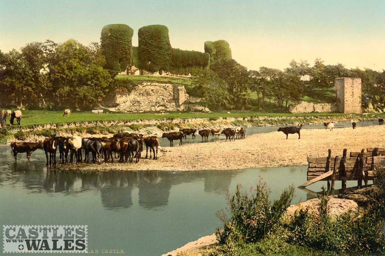 A Victorian Photochrom of Rhuddlan Castle