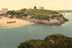 A Victorian Photochrom of Tenby Castle