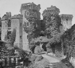 Raglan Castle Magic Lantern Slide c.1890